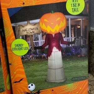 Disney 5ft Pumpkin King Halloween Inflatable Nightmare Before Christmas